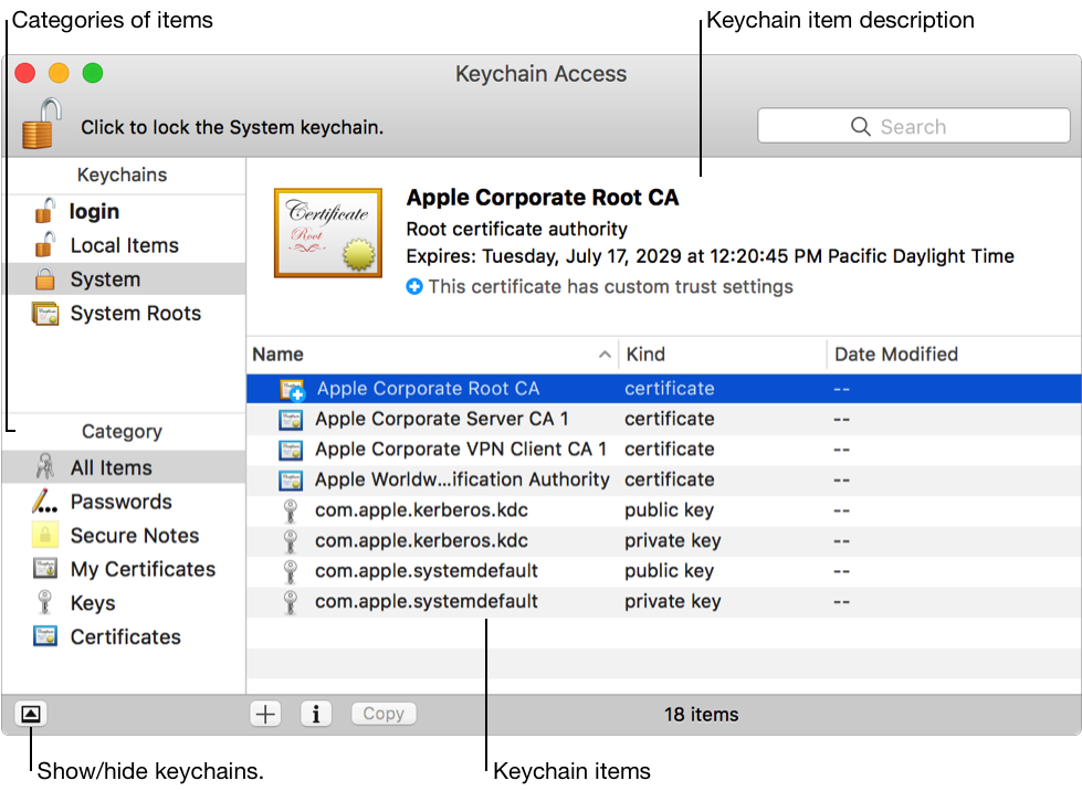 What is the Keychain App on a Mac and how is it used   b1e5b5ba8b